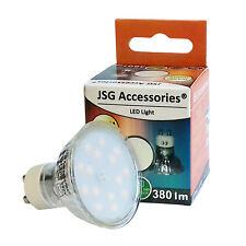 GU10 Bombilla LED 4.5 W Spot Lámparas 24 X 5050 SMD blanco cálido 3200-3500K = 50 W Halógeno