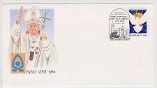 (ICF171) 1986 AU Cover 36c Papal visit Special cancel (B)