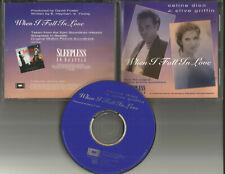 CELINE DION w/ CLIVE GRIFFIN When I fall In love PROMO DJ CD Single 1993 USA