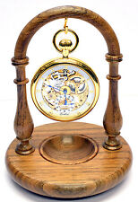 English Walnut Pocket Watch Stand, Handmade in England A26w (Watch not included)