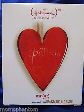 Hallmark ORNAMENT 2007 INSPI(RED) INSPIRED RED GLASS HEART SUN CATCHER