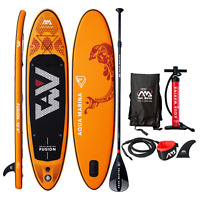 2019 Aqua Marina Fusion Inflatable Stand Up Paddle Board w/ Paddle 10'4''