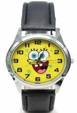 Spongebob Squarepants Character Genuine Leather Band Timepiece