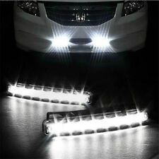 Car Light 8 LED DRL Fog Driving Daylight Daytime Running White Lamp DC 12V