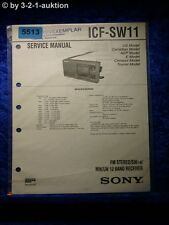 Sony Service Manual ICF SW11 12 Band Receiver (#5513)