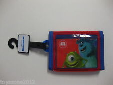 """Monsters, Inc. Tri-Fold Wallet 4.5"""" x 3.5"""" ( RED ) BRAND NEW"""