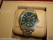 Rolex 116400V Milgauss Green Crystal Stainless Steel 40mm Rare Model