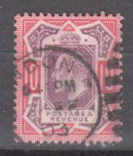 Uk-Great Britain-1902/1910-Edward Vii- 10 P- Red &Violet-Y&T nr.116-used stamp