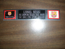 LIONEL MESSI (SOCCER) NAMEPLATE FOR SIGNED BALL CASE/JERSEY CASE/PHOTO