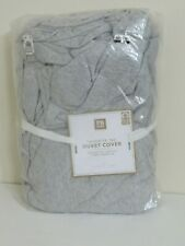 POTTERY BARN TEEN FAVORITE TEE HEATHER GRAY DUVET COVER NEW TWIN