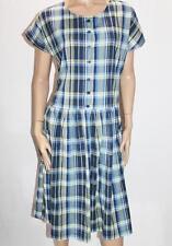 Cabin Creek Brand Blue Check Short Sleeve Pocket Day Dress Size L BNWT #SH79