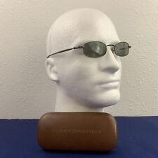 Tommy Hilfiger TH16046 Sunglasses Black Metal Oval Lens Frames