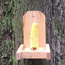 """7/8"""" Cedar Squirrel Chipmunk Feeder Single Ear Corncob Save Your Bird Feeders"""