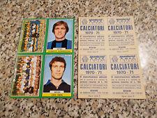 FOGLIO FIGURINE album CALCIATORI EDIS 1970-71 SAMPDORIA-BONINSEGNA-CATANIA-VIERI