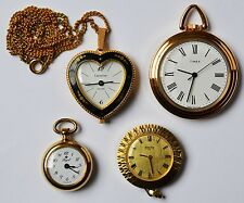 Konvolut 4 Damenuhren Taschenuhren Handaufzug intakt Lucerne Timex Ankra Royal