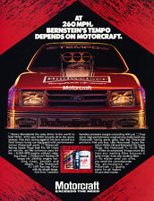 1984 Ford Tempo Motorcraft Race 260 mph Advertisement Car Print Ad J506