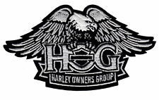 HOG WINGED EAGLE VEST PATCH HARLEY DAVIDSON OWNERS GROUP SMALL DOWN-WING 5 INCH