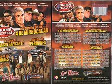 4 Super Peliculas el regreso de los 4 De Michocacan, elmariachi Narcotraficante,