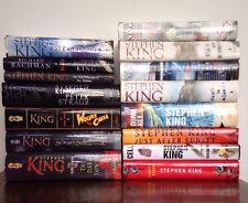 Lot 15 Stephen King Books Hardcover Dark Tower Cell Duma Key Bag Of Bones Blaze