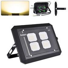 200W LED SMD Flutlicht Fluter Außen Strahler Leuchte Scheinwerfer Warmweiß DE