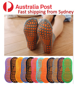 Anti-Slip Grip Socks Yoga Barre Ballet Fitness Trampoline Floor Socks AU Stock