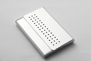 TROIKA Neu Visitenkartenbox Visitenkarten Box aus Metall Etui Aufsteller Spender