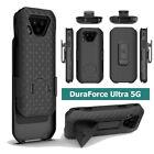 For Kyocera DuraForce Ultra 5G, Strong Belt Clip Holster Case Kickstand Black
