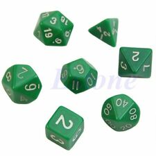 7pcs Green Sided Die D4 D6 D8 D10 D12 D20 DUNGEONS&DRAGONS RPG Poly Dice Game
