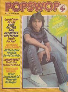 POPSWOP # 86 (1974) David Cassidy Gary Glitter Paul McCartney -  inc. Free Gift