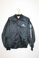 VINTAGE Circa 1980s/1990s~Men's Size M~Black~Letterman Jacket Style~FORD Trucks~
