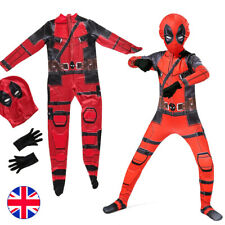 Superhero Deadpool Costume Cosplay Kids Adult Costume Suit Halloween Party