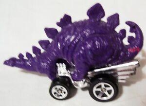 1:64 1994 Malaysia Hot wheels diecast purple stegosaurus dinosaur hot rod car