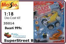 Maisto 35014 1/18 Ducati 999s Super Bike Die-cast Metal kit. Yellow