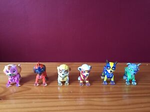 PAW PATROL MIGHTY SUPER PUPS LIGHT UP FIGURES FULL SET OF 6 FIGURES