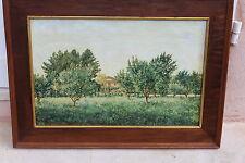 """Beau tableau ancien """" maison et jardin """""""