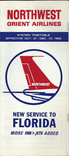 Northwest Orient Airlines system timetable 10/27/63 [0098]