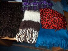 5 x Ladies Scarves and 1 Shawl USED very good condition FREE POST