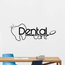 Dental Care Wall Decal Art Vinyl Sticker Bathroom Poster Stomatology Decor 71bar