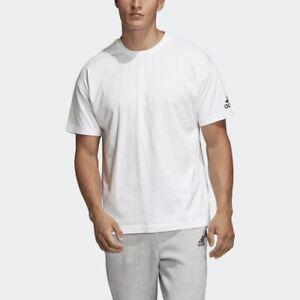 Casual Sports T-Shirt Mens Adidas Cotton Plain White Tee