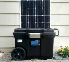 Portable Solar Generator 2500W/5000W 100ah Battery + 150 Watt Solar Panel