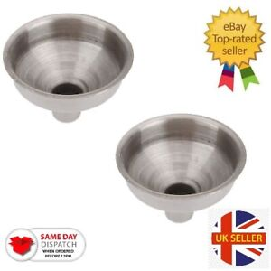 Stainless Steel Funnel Hip Flask Liquids Oil Kitchen Strainer 8mm x 2 pack