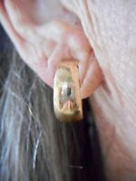 Authentic Vintage 1960's Matte Gold Tone Oversize Hoop Clip Earrings