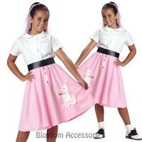 CK151 Poodle Skirt Pink Girls Child Book Week Halloween Fancy Dress Up Costume