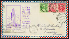 1932 FIRST FLIGHT AIR MAIL ROUTE AM 29 - BATON ROUGE, LA TO HOUSTON  (ESP#1531)