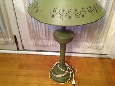 Vintage Mid Century Table Lamp- Metal Toleware Large -NICE