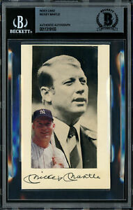 Mickey Mantle Autographed Signed 3x5 Index Card Yankees Beckett 11319103