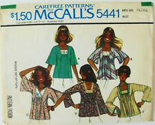McCalls 5441 Misses Carefree Tops Sewing Pattern Sz 6-8