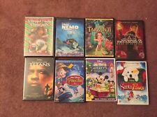 8 DVD Lot MOVIES CHILDRENS Disney Muppet Family Christmas Nemo Tarzan Titans