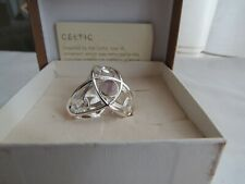 scarf ring new in box Past Times silver coloured Celtic style