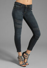 NWT $248  CURRENT ELLIOTT  24  The Stiletto Washed Black with Lace Skinny Jeans